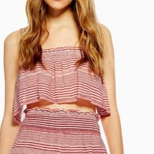 Topshop Stripe Beach Camisole Crop Top SZ S 4-6 🆕
